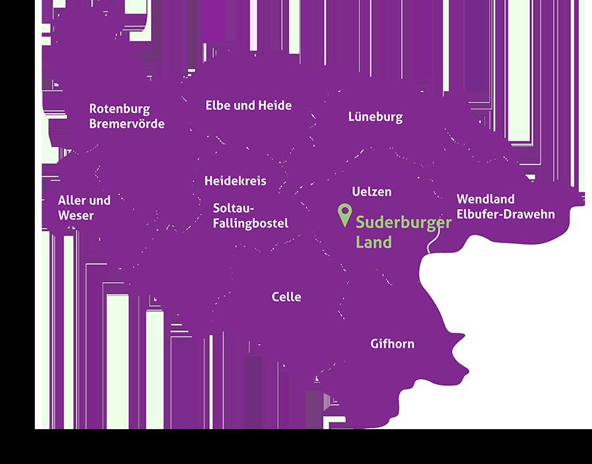 Karte Lüneburger Heide Und Umgebung.Startseite Tourismusverein Suderburger Land Tourismusverein